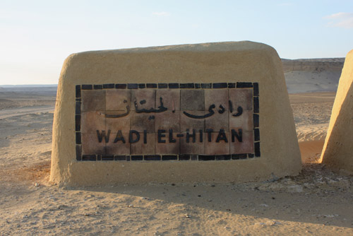 Entry sign of the Whale Valley historic site